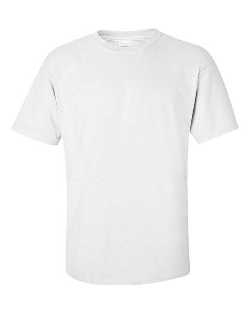 Customizable white front t-shirt