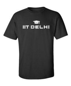 IIT Delhi Mens T-Shirt Black