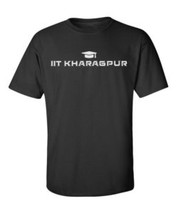 IIT Kharagpur Mens T-Shirt Black
