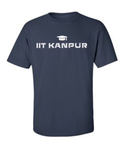 IIT Kanpur Mens T-Shirt Navy Blue