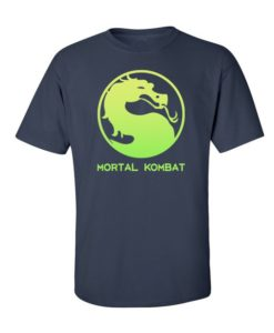 Mortal Kombat Mens T-Shirt Royal Blue