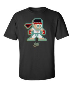 Minecraft Street Fighter Mens T-Shirt Black