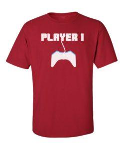 Player 1 Mens T-Shirt Cherry Red