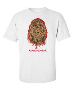 Star Wars Force Awakens Chewie Mens T-Shirt White