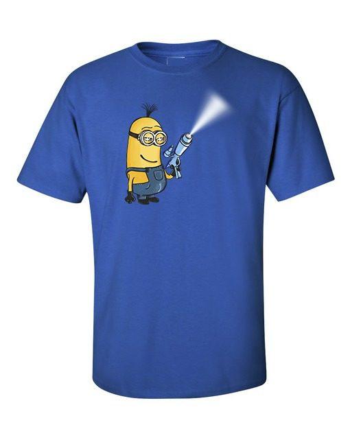 Minion Gun T-Shirt Royal Blue