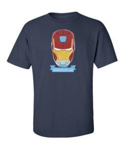 Iron Man Armour Up T-Shirt Navy Blue