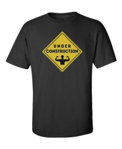 Body Under Construction T-Shirt Black