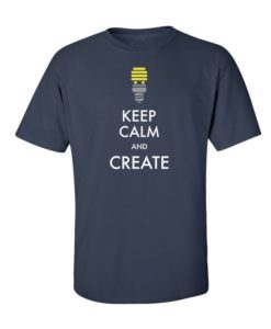 Keep Calm & Create T-Shirt Navy Blue