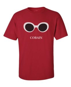 Kurt Cobain Shades T-Shirt Cherry Red