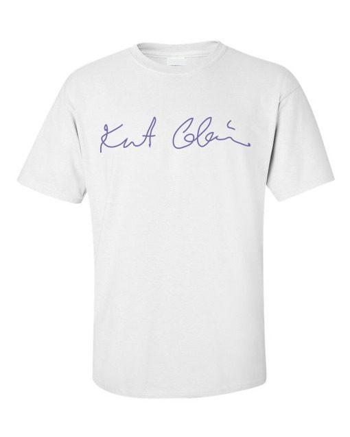 Kurt Cobain Signature T-Shirt White