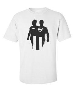 Batman V Superman Silhoutte White
