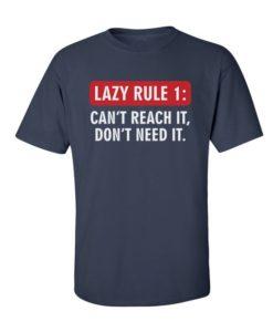 Funny Lazy Rule Navy Blue