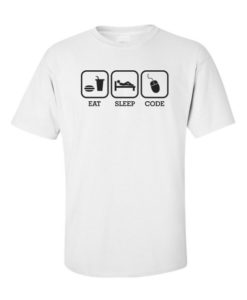 Software Engg Eat Sleep Code White