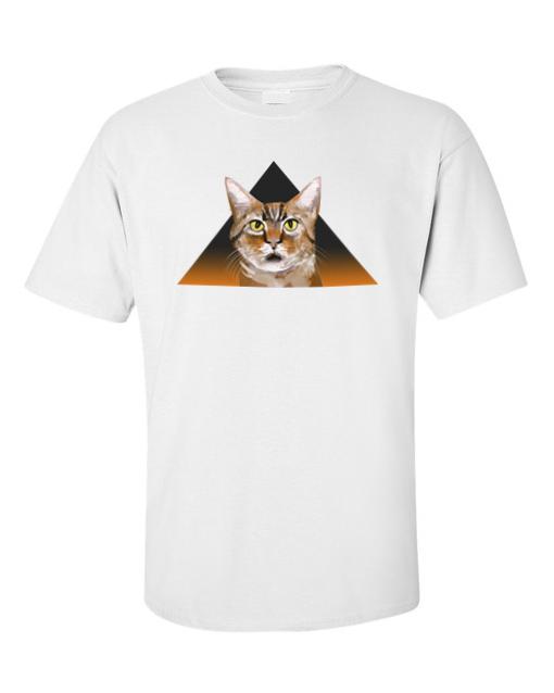 Funky Cat Peeping White