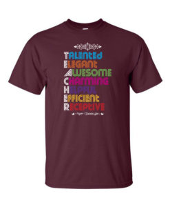 Teachers Acronym Maroon