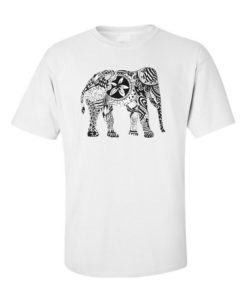 elephant art white