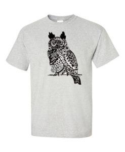 owl traditional gray