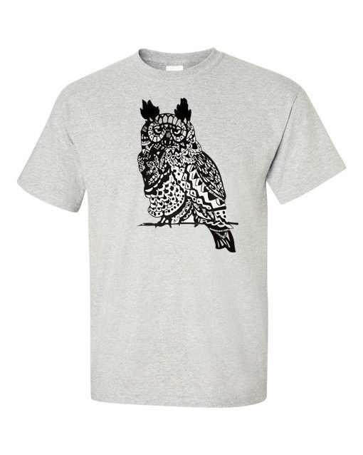 owl traditional gray