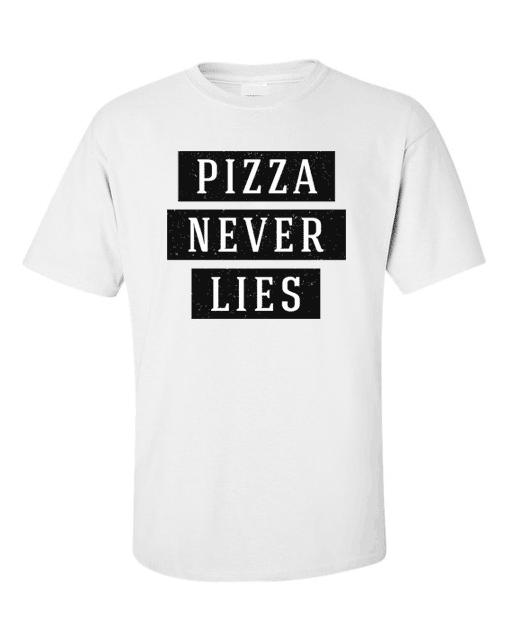 pizza lies white