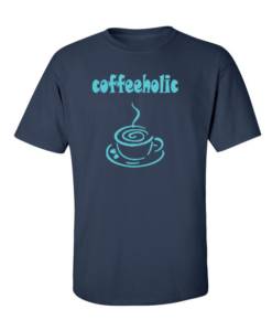 coffeeholic navy blue