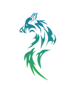 graphic wolf overlay