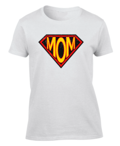 supermom white womens