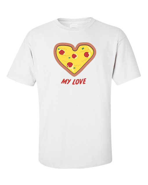 pizza love white