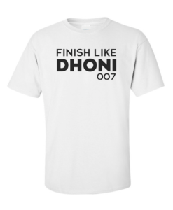 finish like dhoni white
