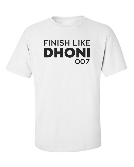finish like dhoni white