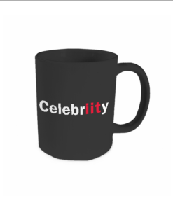 celebriity black mug