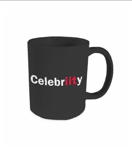 celebriity black mug