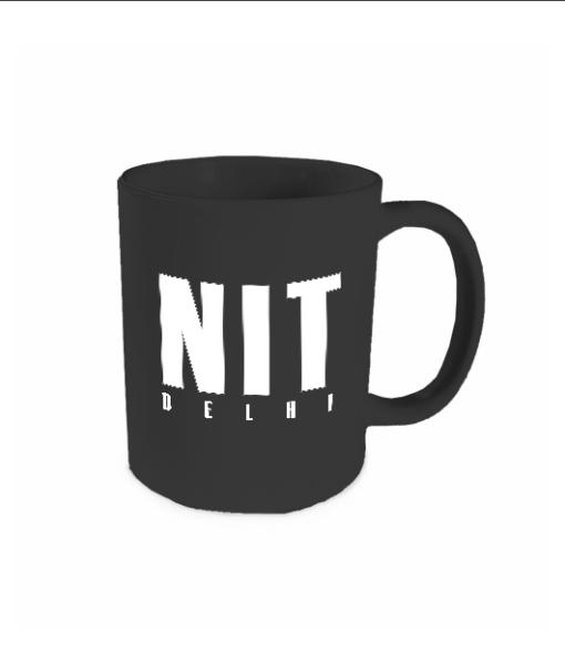 nit delhi black mug